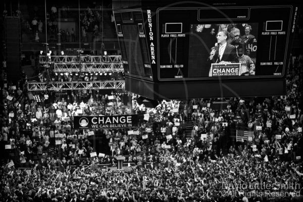 It is rare for presidential candidates to campaign in Texas: The nominees for both parties are usually chosen before Texas' March primary, and Texas is not a battleground state in the general election.2008 was different with the two Democratic candidates still in a dead-heat for the nomination, and Senator Barack Obama's campaign held a large rally at Dallas Reunion Arena.